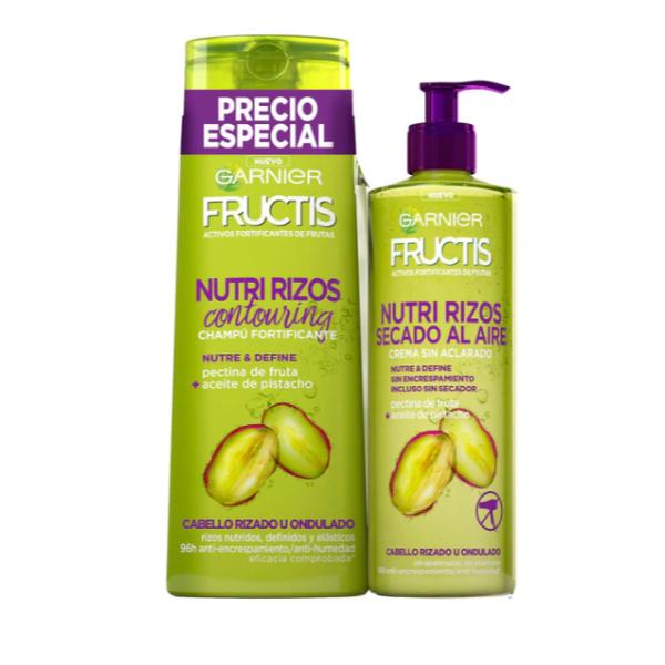 Fructis champú 360 ml + tratamiento 400 ml Nutri Rizos