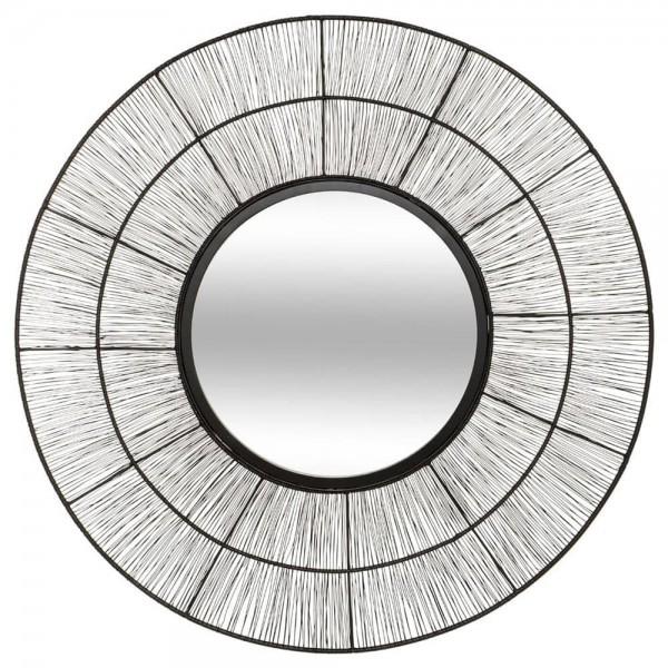 Espejo de metal negro colección 'andreane' diam.76cm
