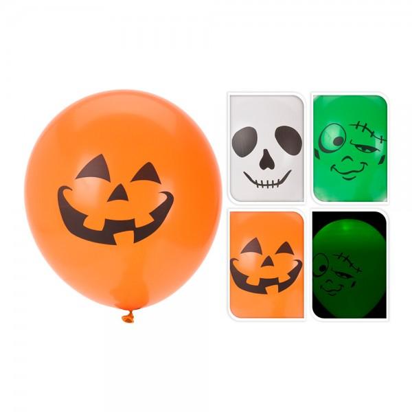 Pack 3 globos halloween con led