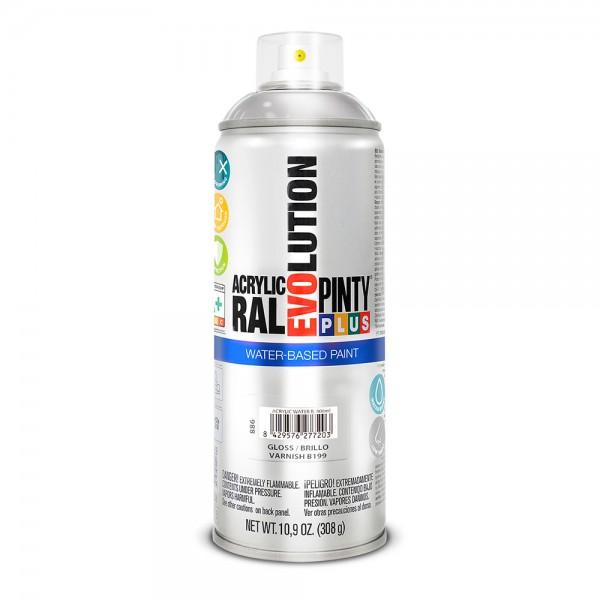 Pintura en spray pintyplus evolution water-based 520cc b199 barniz brillo