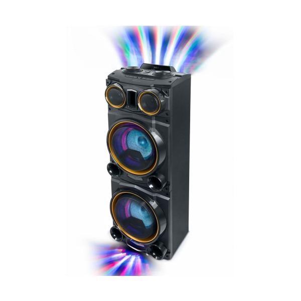 Muse m-1988 dj negro altavoz para fiestas 800w con bluetooth radio fm usb aux 2x micros